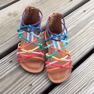 Rainbow Steve Madden sandals